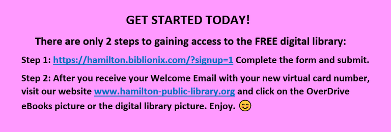 There are only 2 steps to access the FREE digital library