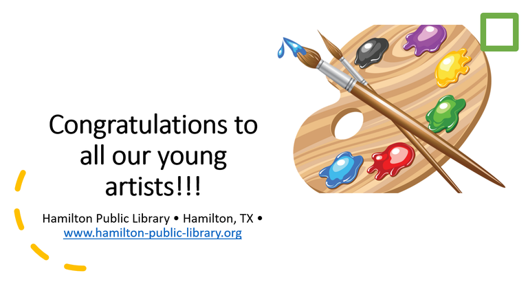 Congratulations to all our young artists!!!